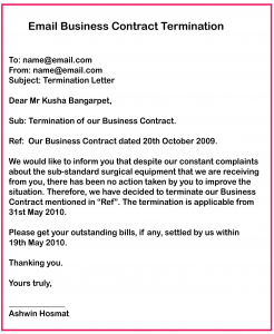 How to Write a Business Contract Termination Letter