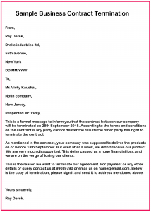 Business Contract Termination Letter Template